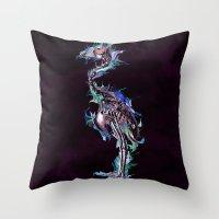 archan nair Throw Pillows featuring Fade Fader Fadest by Archan Nair