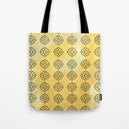 Geometrical Yellow Tote Bag