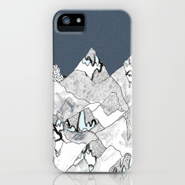 At night in the mountains iPhone Case