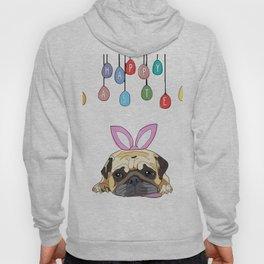 Happy Easter - Pug Bunny Hoody