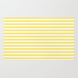 Lemon yellow stripes Rug