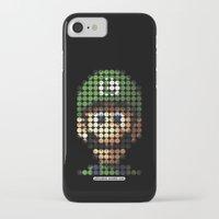 luigi iPhone & iPod Cases featuring Pictodotz - Luigi by dudsbessa