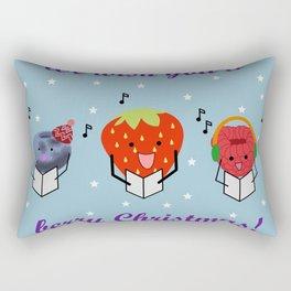 We wish you a berry Christmas Rectangular Pillow