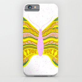 butterfly I: yellow & pink iPhone Case