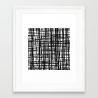 striped Framed Art Prints featuring striped by nionio.design