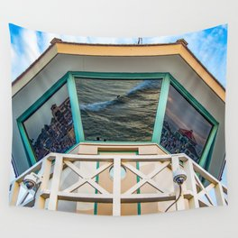 Surf City Reflects  Wall Tapestry
