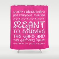 friendship Shower Curtains featuring Friendship by Book Ink Boutique