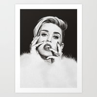 miley Art Prints featuring Miley by Michaela Ramstedt