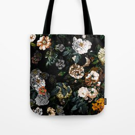 Floral Night Garden Tote Bag