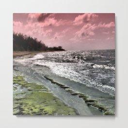 Slippery Beach Wonder Metal Print