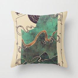 Northern Nightsky Throw Pillow
