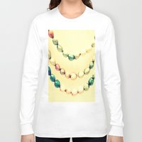 pastel Long Sleeve T-shirts featuring pASTel Vintage Beads by 2sweet4words Designs