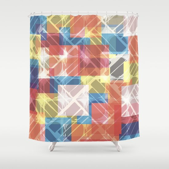 squares n holes... Shower Curtain
