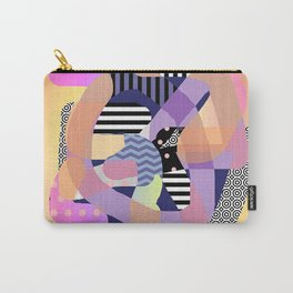 ABSTRACT WITH PURPLE BORDER Carry-All Pouch