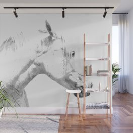 White Horse Profile Wall Mural