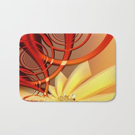 Circling 2 Abstract Fractal Art Bath Mat