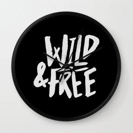Wild and Free II Wall Clock