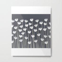 White Poppies Metal Print