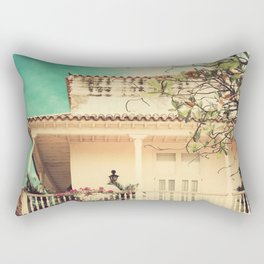 Colourful Summer Old House (Retro and Vintage Urban, architecture photography) Rectangular Pillow
