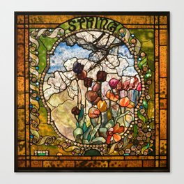 Louis Comfort Tiffany - Decorative stained glass 18. Canvas Print