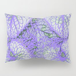LILAC VEINED TROPICAL LEAVES PATTERN ART Pillow Sham