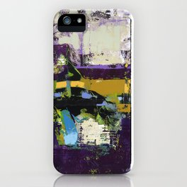 Controversy Prince Deep Purple Abstract Painting Modern Art iPhone Case