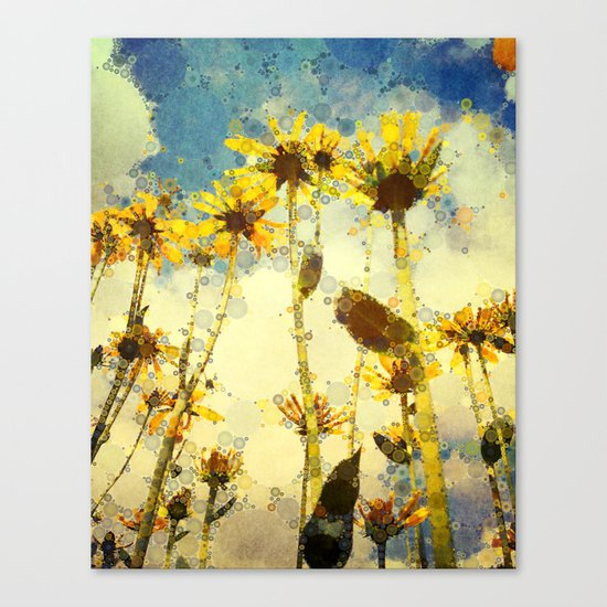 Her Thoughts Were Happy and So Was Her Life Canvas Print