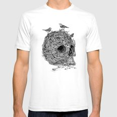 Skull Nest LARGE White Mens Fitted Tee