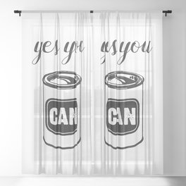 Yes You Can Quote Sheer Curtain