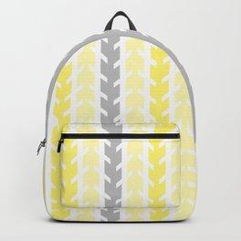 Yellow Gray Chevron Arrow Backpack