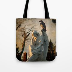 Angel and Crow Tote Bag