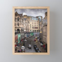 Victoria Street in Edinburgh, Scotland Framed Mini Art Print
