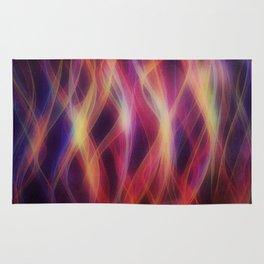 Glowing waves Rug