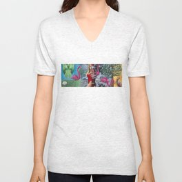 Real World (Complete Panorama) Unisex V-Neck