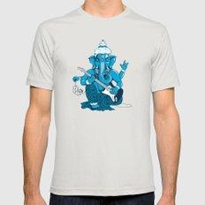 Ganesha rocks ! (v3) Mens Fitted Tee Silver MEDIUM