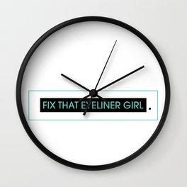 eyeliner Wall Clock