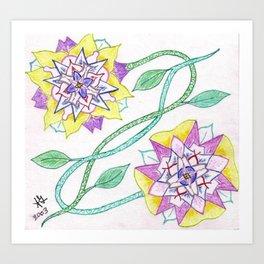 Flowers of Elume Art Print