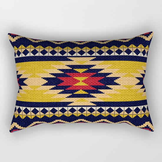 Aztec pattern Rectangular Pillow