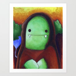 Monster Imitates Art: Monster Lisa Art Print