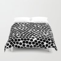 dots Duvet Covers featuring Dots by Patterns and Textures