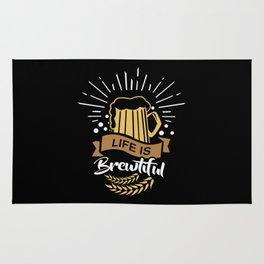 Life is Brewtiful | Beer Brewer Oktoberfest Rug