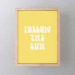 follow the sun - yellow Framed Mini Art Print