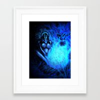pocahontas Framed Art Prints featuring Pocahontas by Brood Studio: Artwork of Jared Hetner
