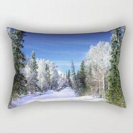 Winter river Rectangular Pillow