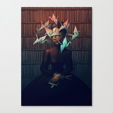 Library Lady Canvas Print