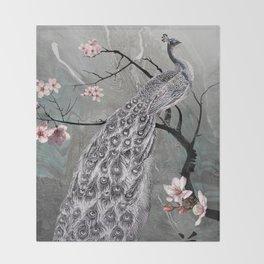 Spade's Peacock Throw Blanket
