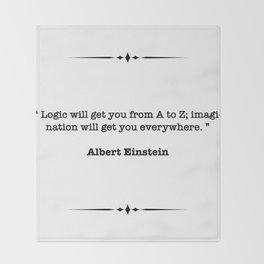 Albert Einstein Quote Throw Blanket