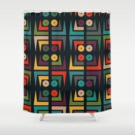 Color jukebox pattern Shower Curtain