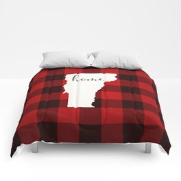 Vermont is Home - Buffalo Check Plaid Comforters