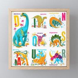 Alphasaurus Rex Framed Mini Art Print